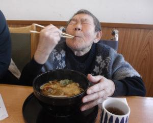 外食レク「うどん最高~!!」